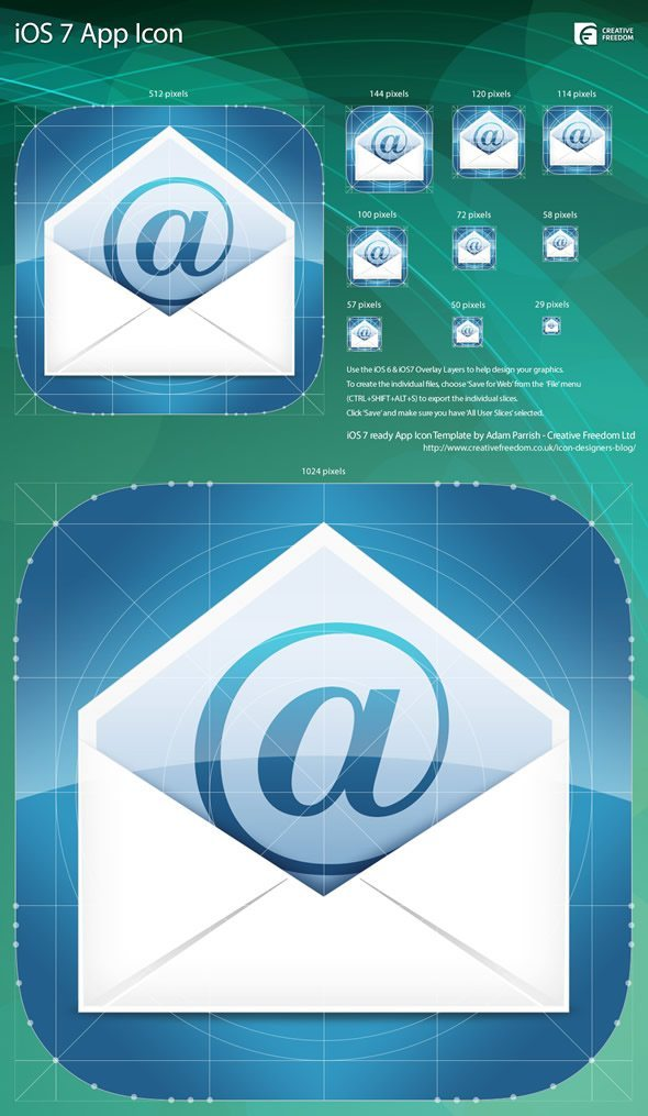 iOS 7 Icon Size Template
